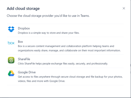 Cloud Storage Teams