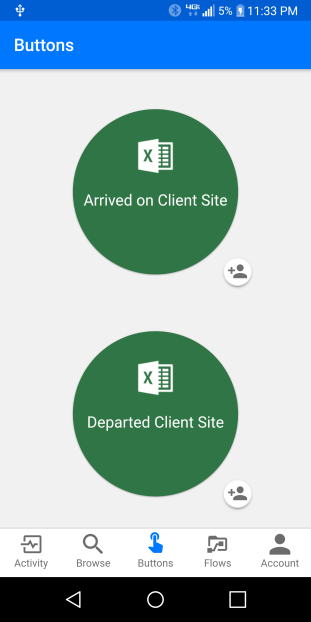 flow client site buttons