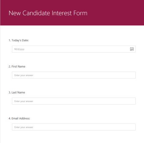 new candidate form
