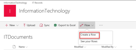 create a flow selected item.png