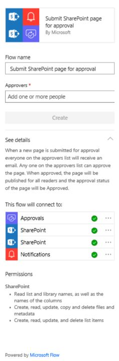 create sharepoint page approval