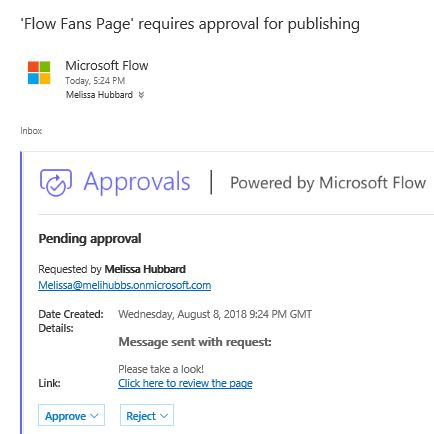 flow page approval